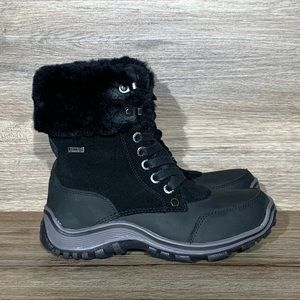 Pajar Abbie Sheepskin Lined Waterproof Boot Black